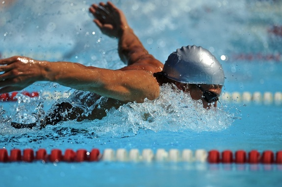 Swimmer Discovers Secret Weapon